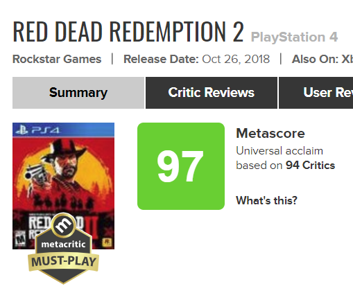 rdr2metacritic